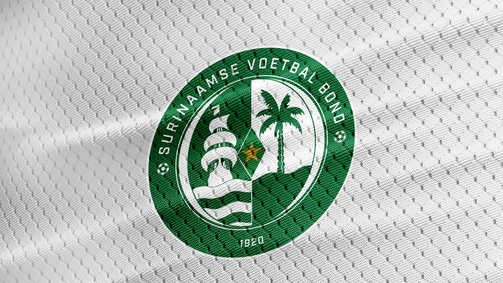 Surinaamse Voetbal Bond Logo on home kit