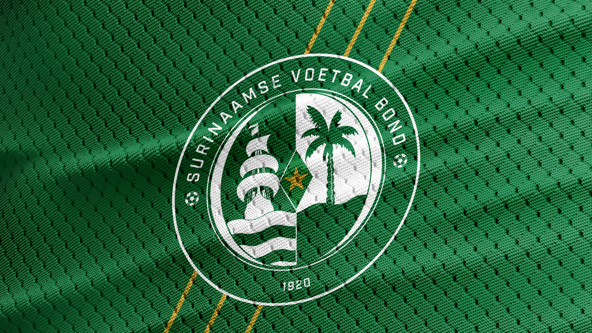 Surinaamse Voetbal Bond Logo on away kit